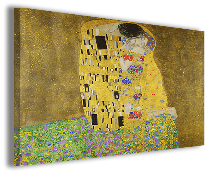 Quadri famosi Gustav Klimt Il bacio falsi d\'autore | Quadri Famosi ...